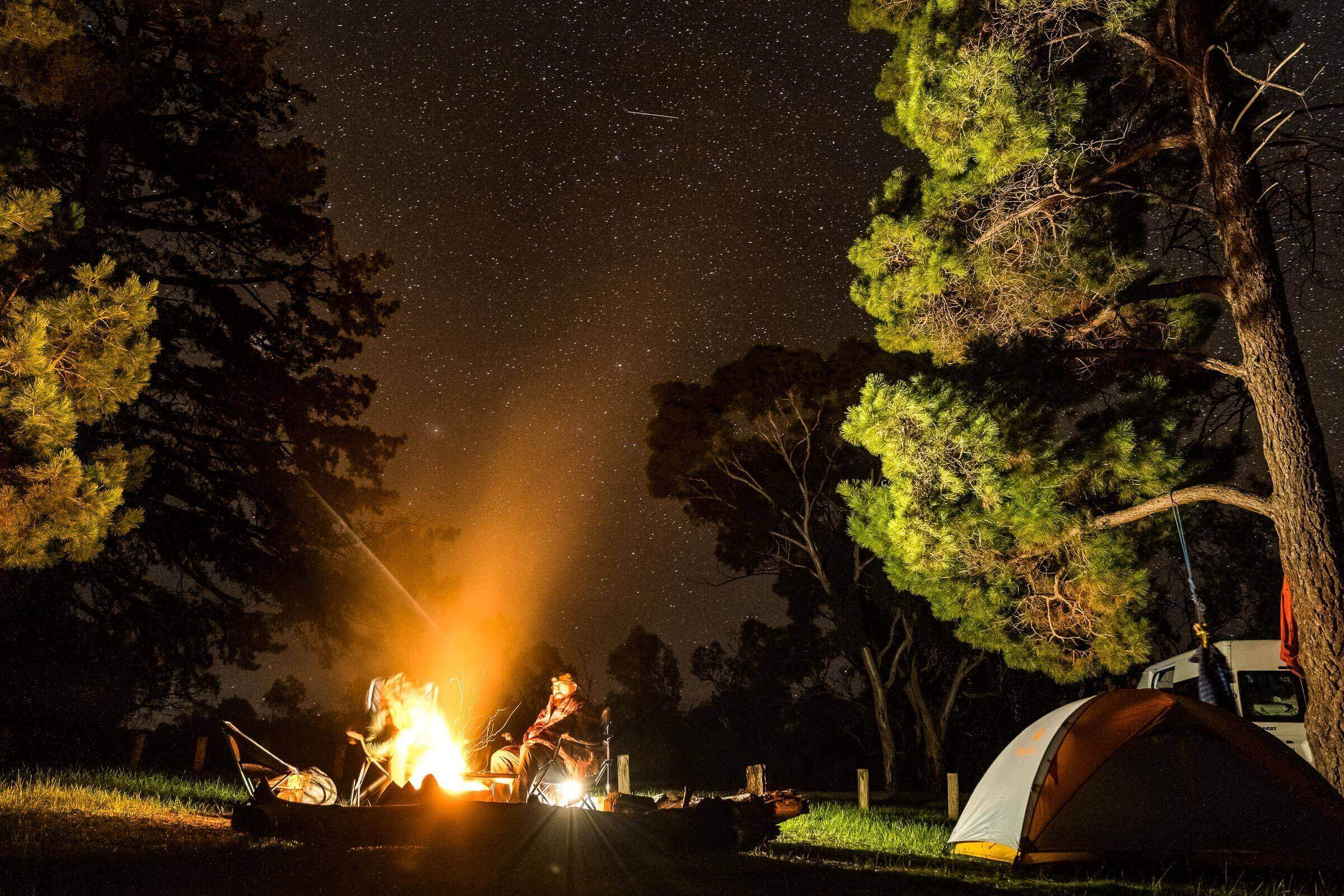 Camping under the stars at Mount Arapiles, Victoria