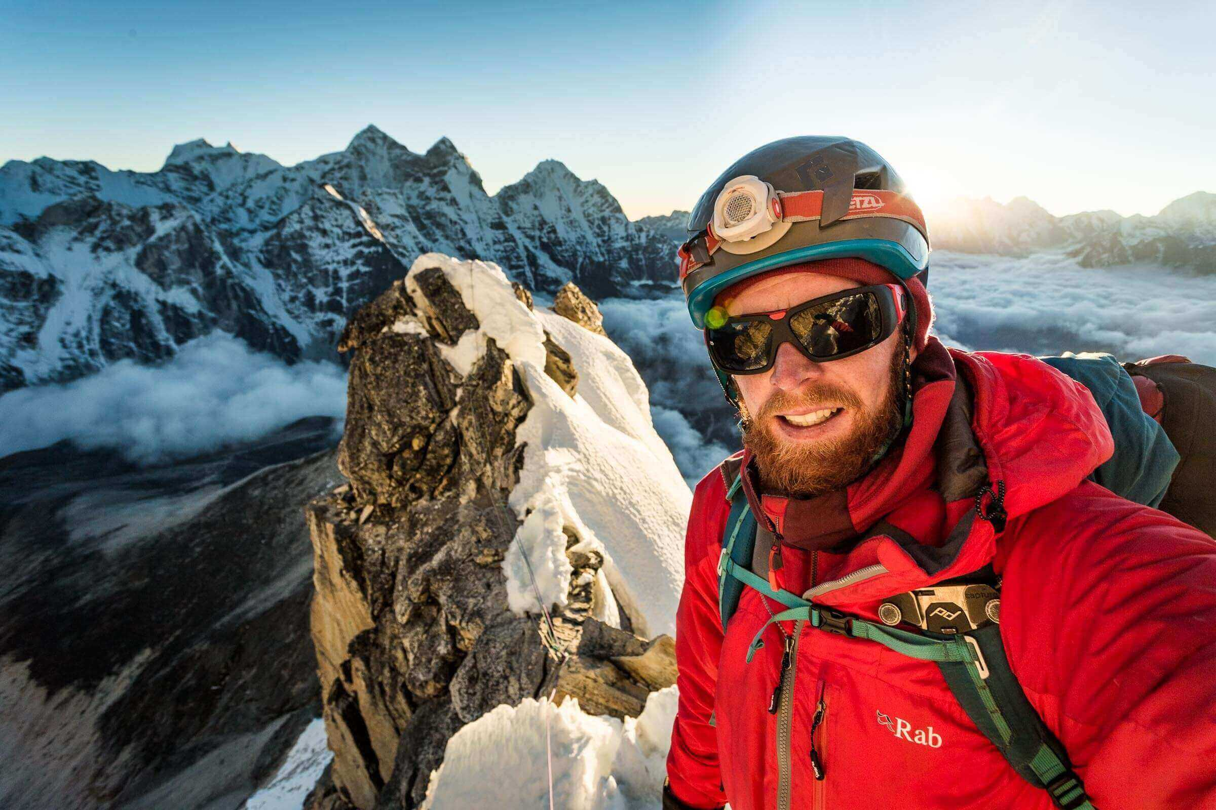 Self portrait at 6000m on the South-West Ridge of Ama Dablam (6812m) in Nepal