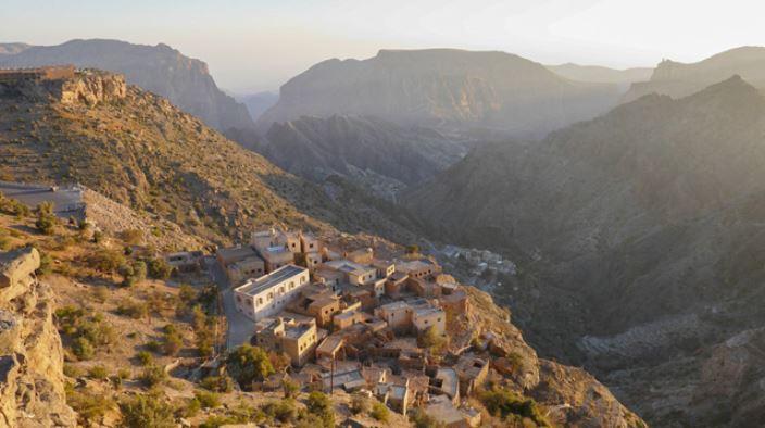 A small remote town found near a mountain cliff, photo taken using the Panasonic Lumix TZ220 digital camera
