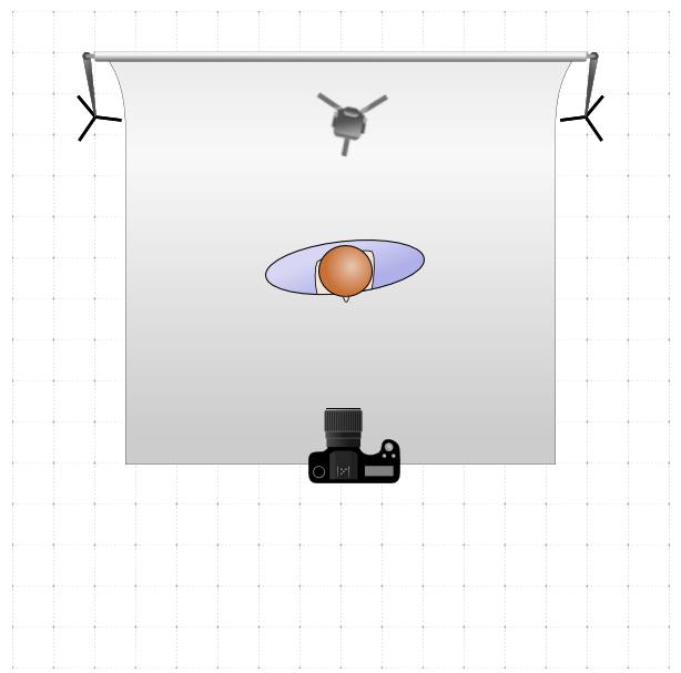 Example of single-light back lighting setup