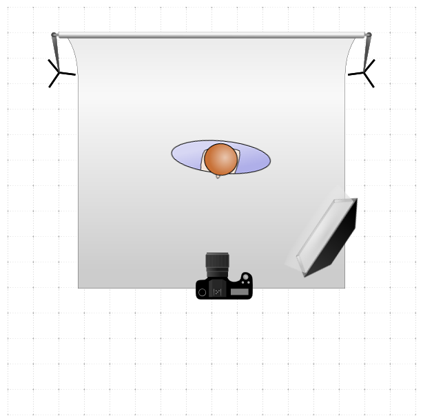 Example of loop lighting setup