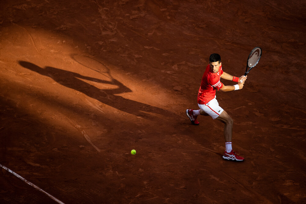Tennis player, photo taken by Tim Clayton