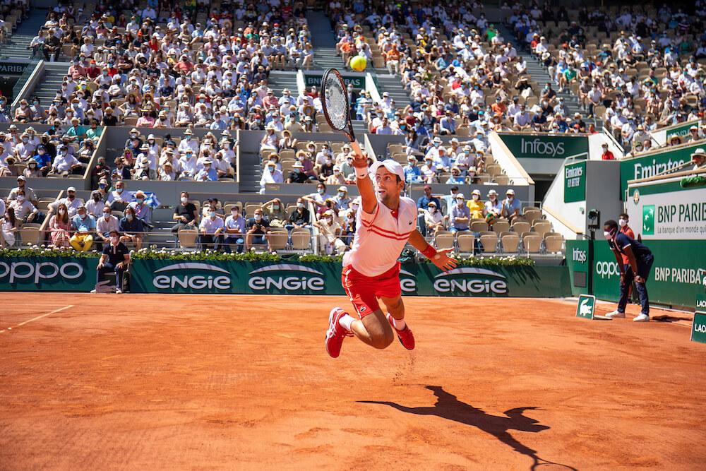 Tennis player, taken by Tim Clayton