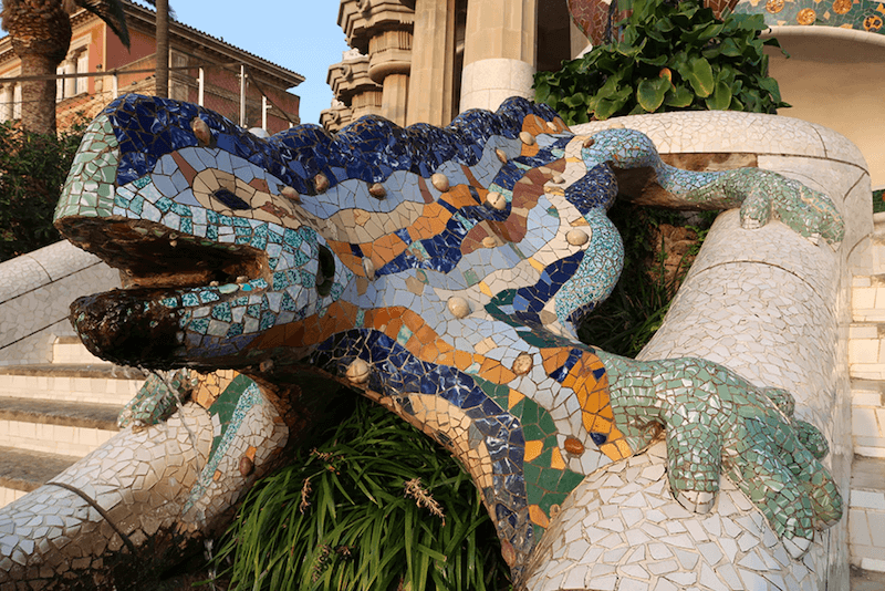 Giant statue of a lizard, taken with Canon G7X Mark II