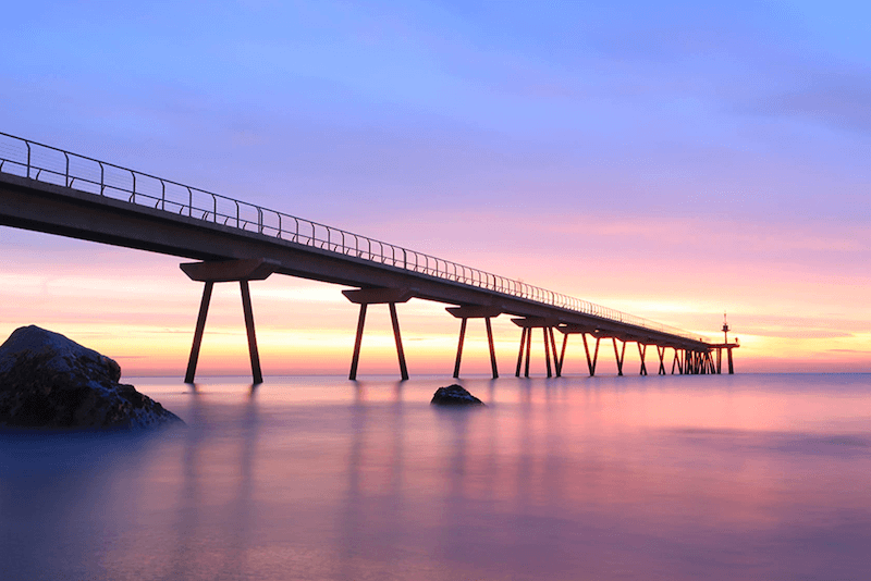 Sunset by the bridge, taken with Canon G7X Mark II