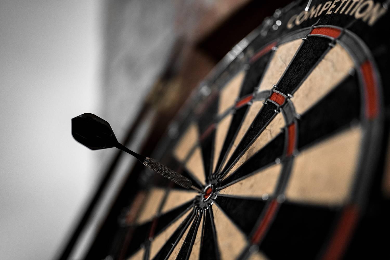 darts on a dartsboard
