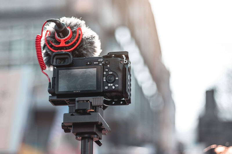 video camera with an external audio recorder