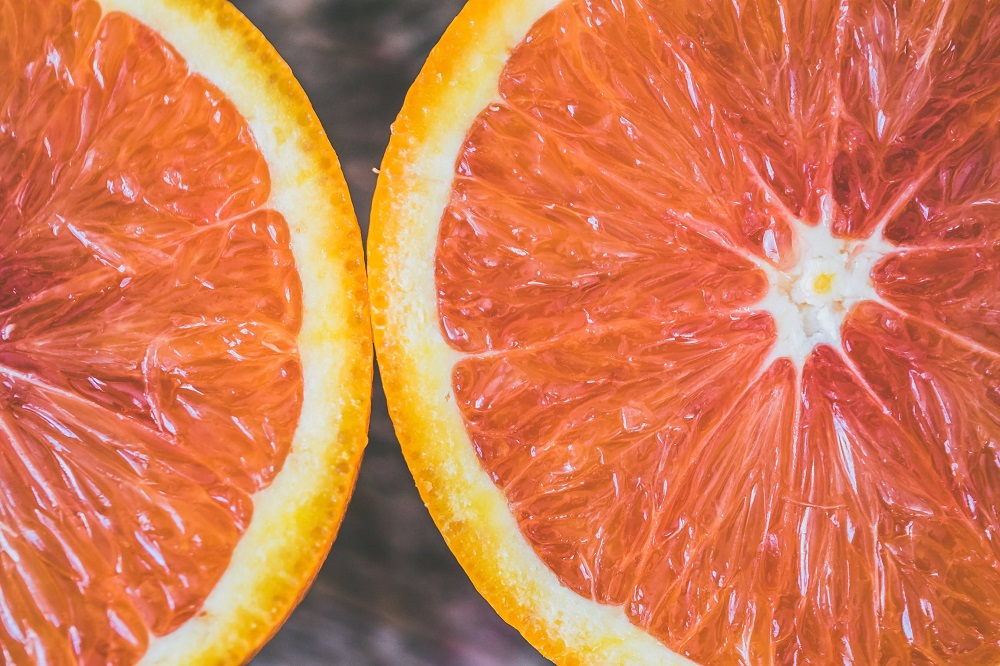citrus fruit macro photography