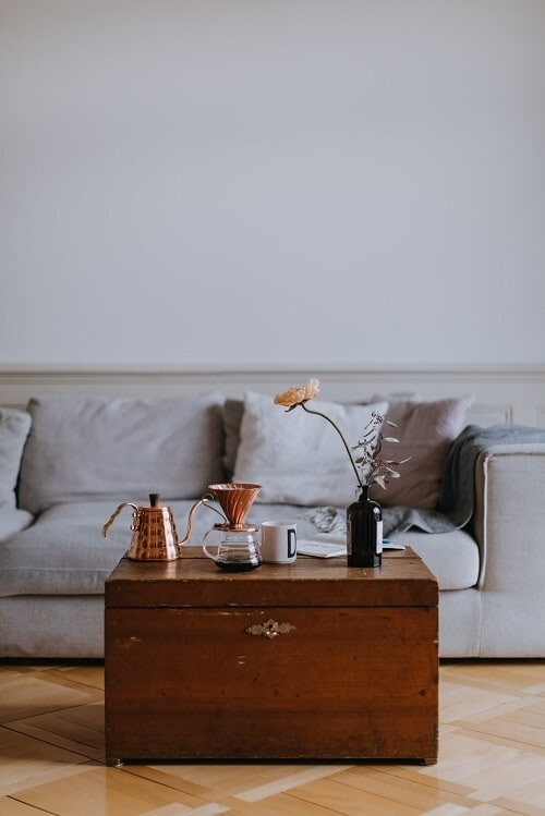 interior and real estate photography of the living room