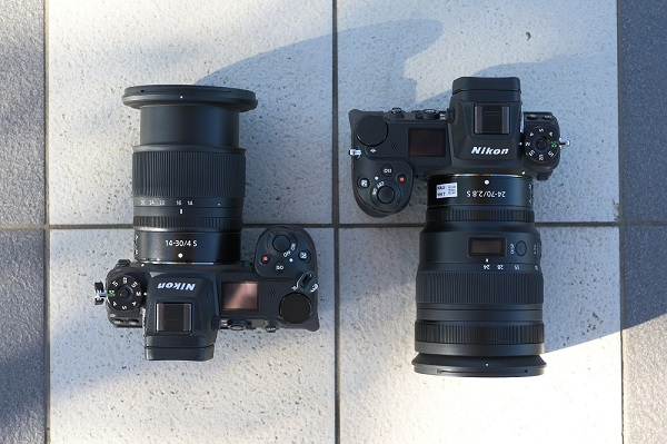 dslr camera with nikor z lenses