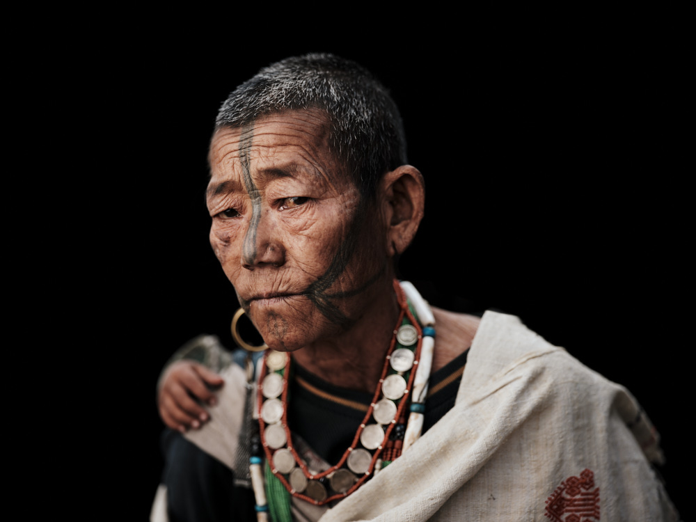 portrait of an old tribal man