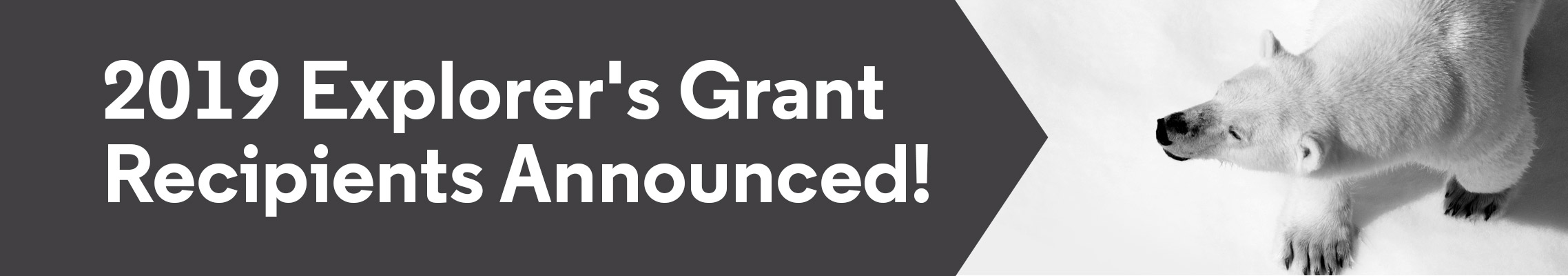 2019 Explorer's Grant Recipients Announced!