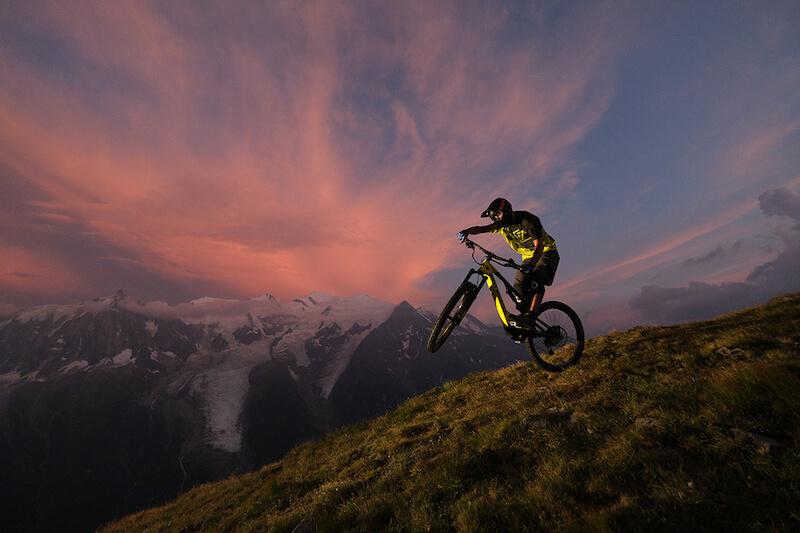 Biker on the mountain, taken with Fujifilm XT3
