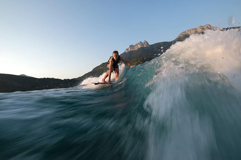 Man surfing, taken with Fujifilm XT3