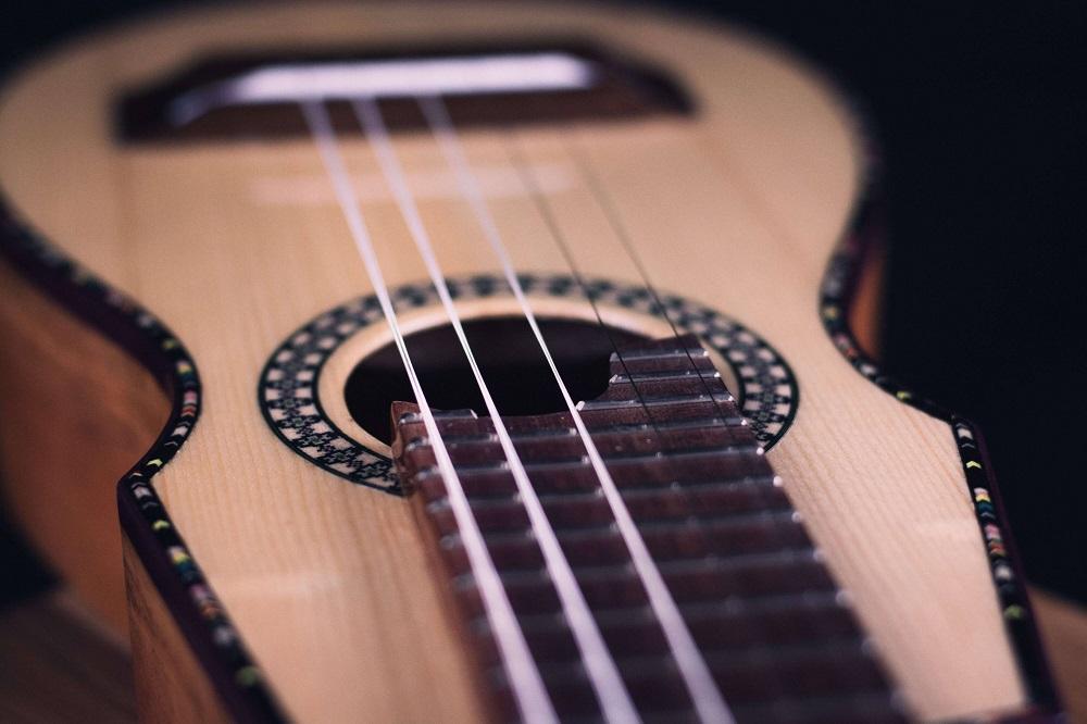 guitar macro photography