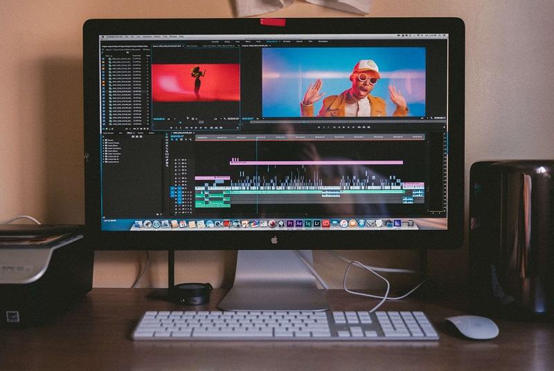 editing video on desktop