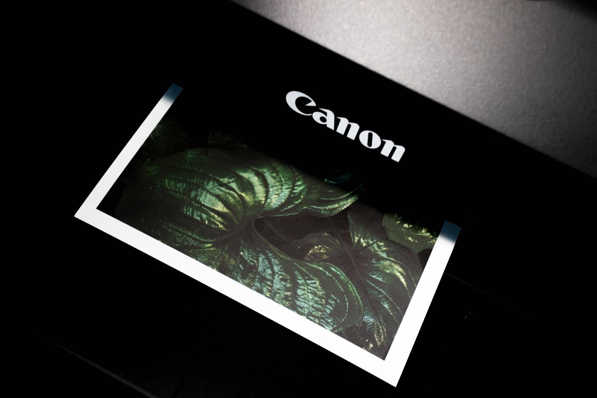 printing an image on a canon photo printer