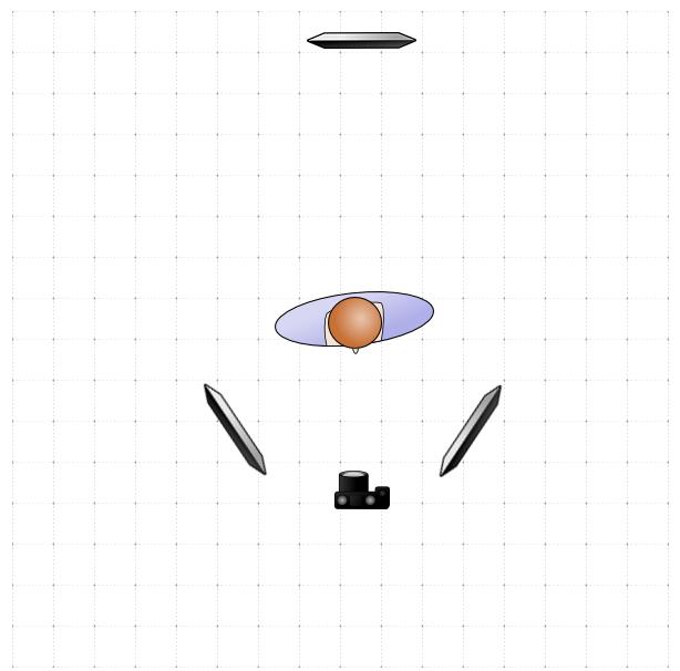 3-point Lighting Setup, diagram B