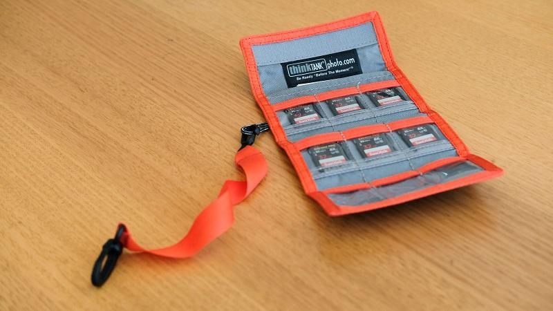 orange thinktank memory card holder