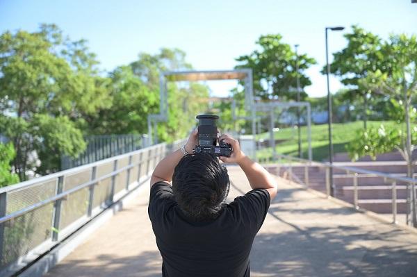 photographer taking pictures using nikor z lens