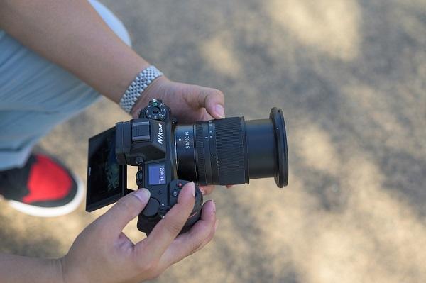 photographer trying nikor z lens