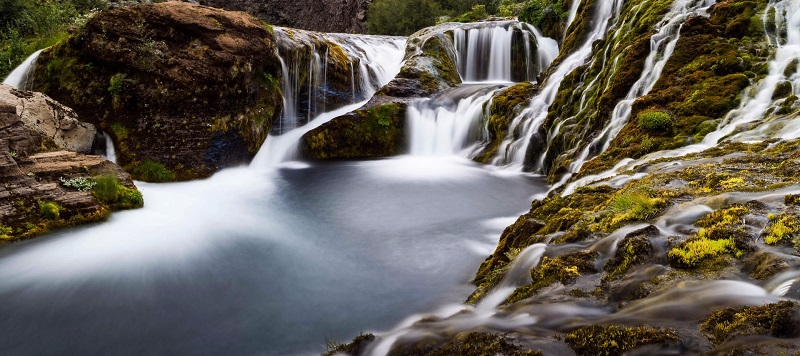 landscape example- waterfall in iceland