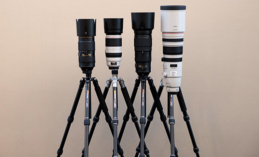 a set of telephoto lens