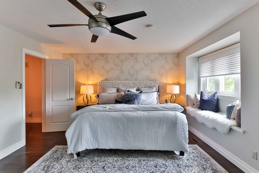 interior and real estate photography of a bedroom