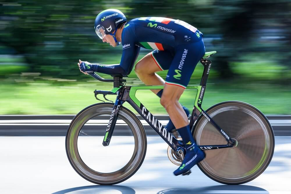 sports photography shot of a cyclist