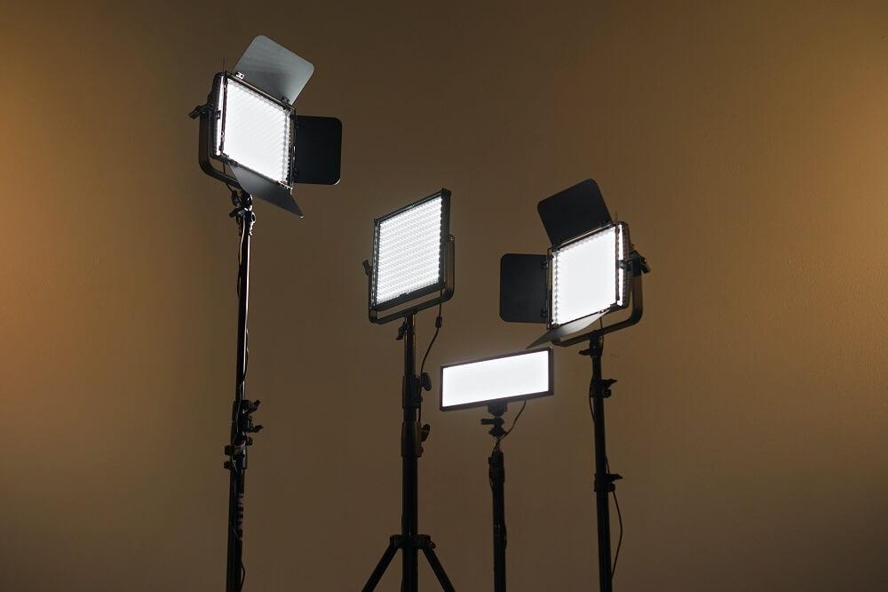 Various LED lights for vlogging