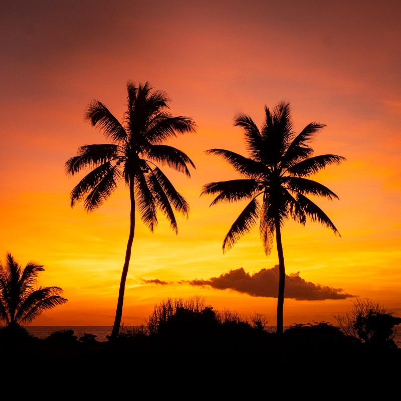 sunset at christmas island