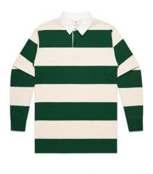 Stripe Cotton Rugby Jersey Natural/Forest