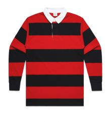 Stripe Cotton Rugby Jersey Red/Black