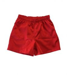 Kids Rugby Shorts Red