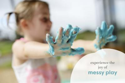 Cloud dough Messy Play activity