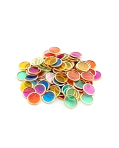 Metal Counting Chips - Pk 100