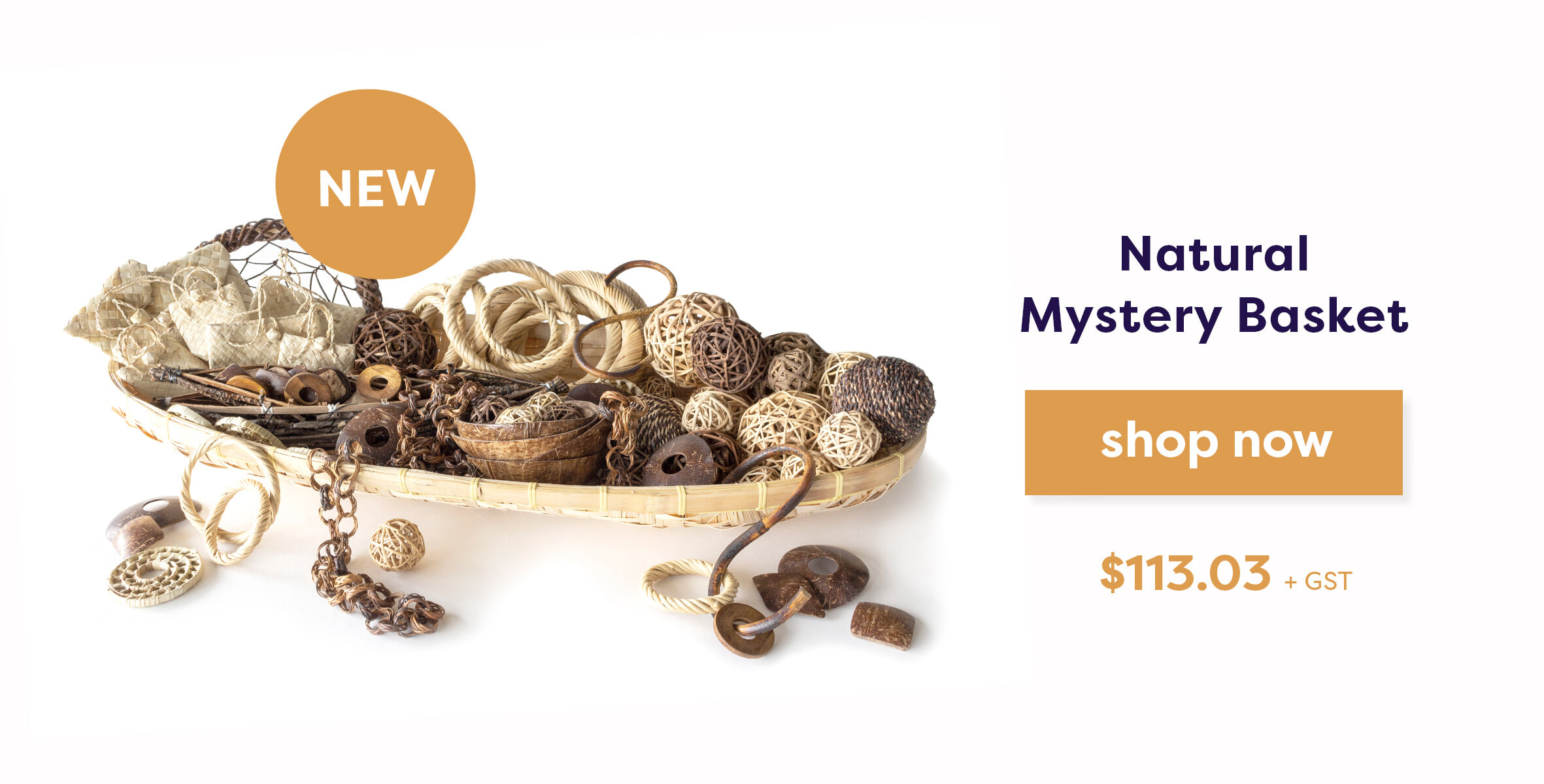 natural mystery basket