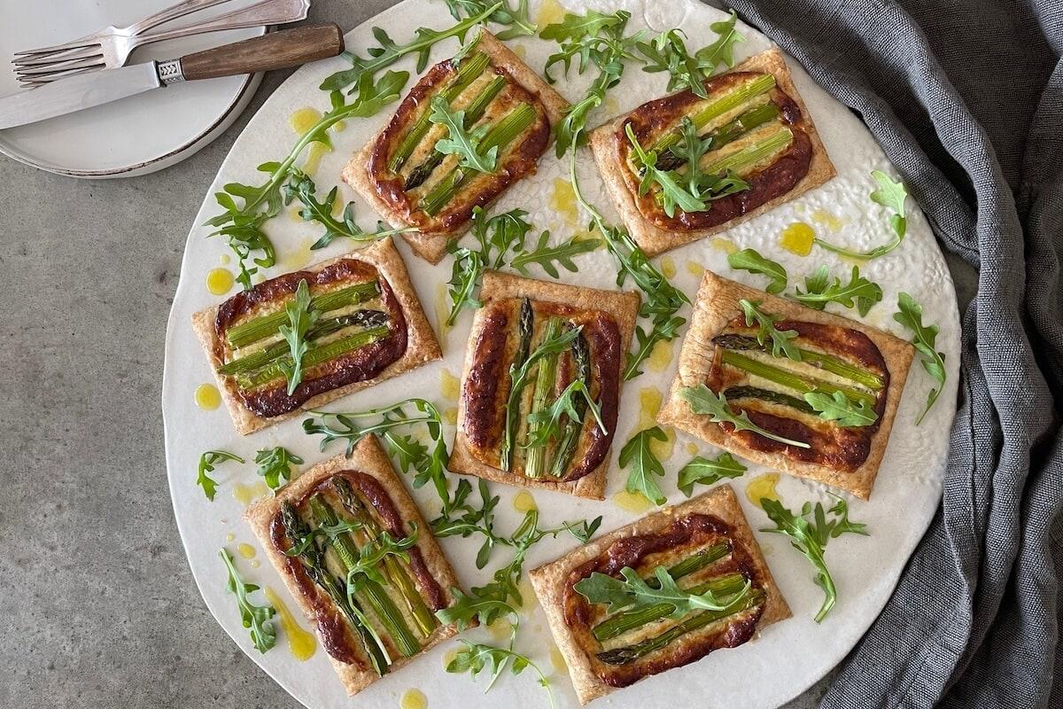 Asparagus Tart with a Rocket Salad