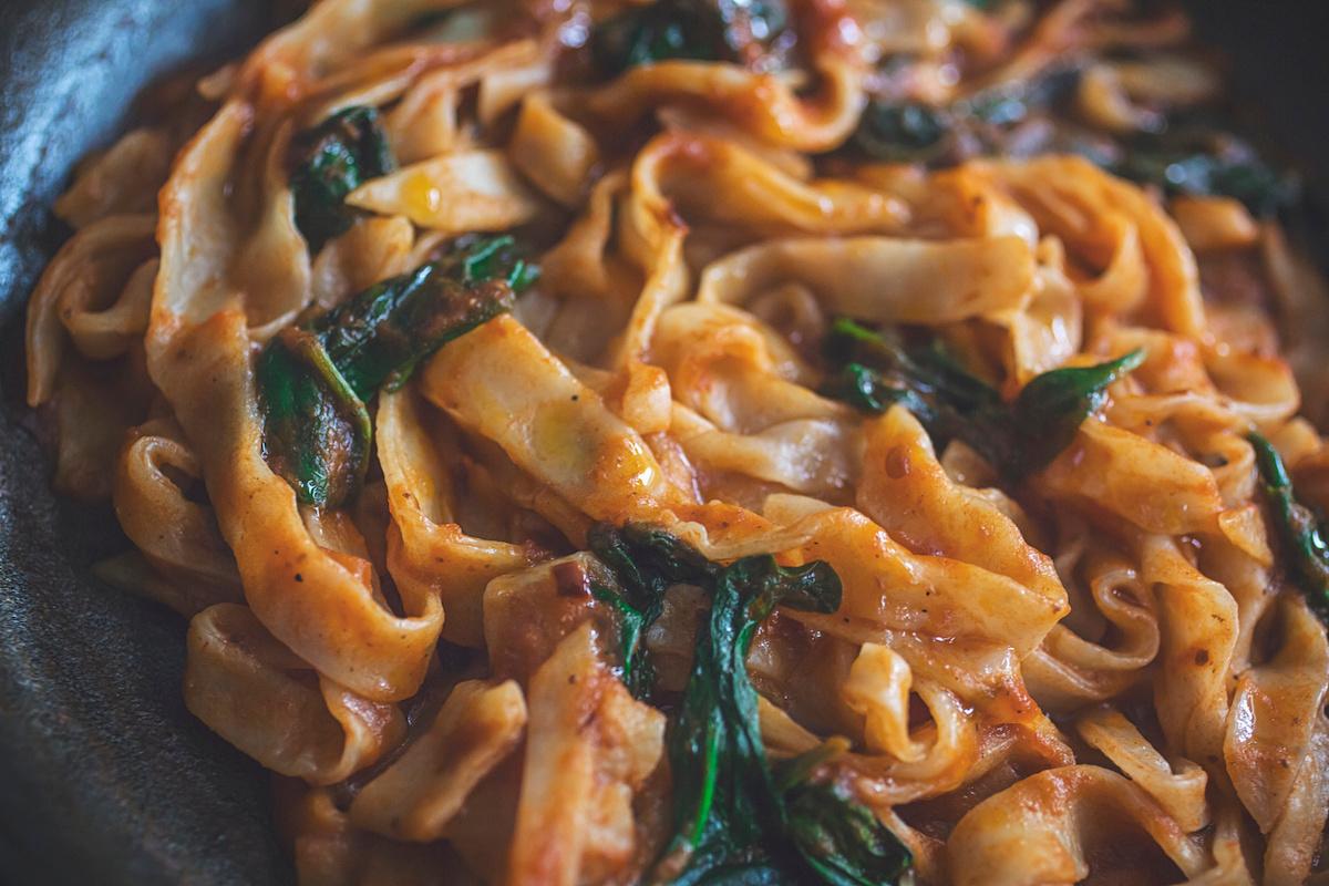 Winter warmer - Pumpkin & Spinach Fettucine