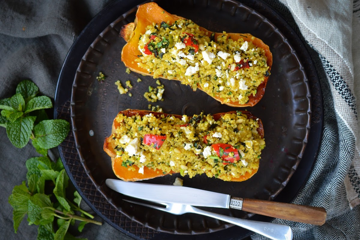 Quinoa Stuffed Butternut Pumpkin