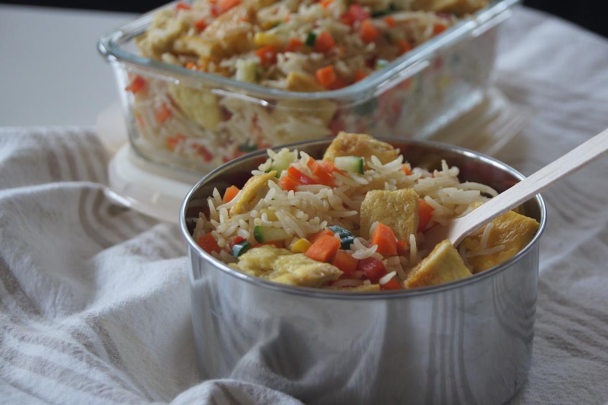 Nicole Avery's healthy kids rainbow rice recipe