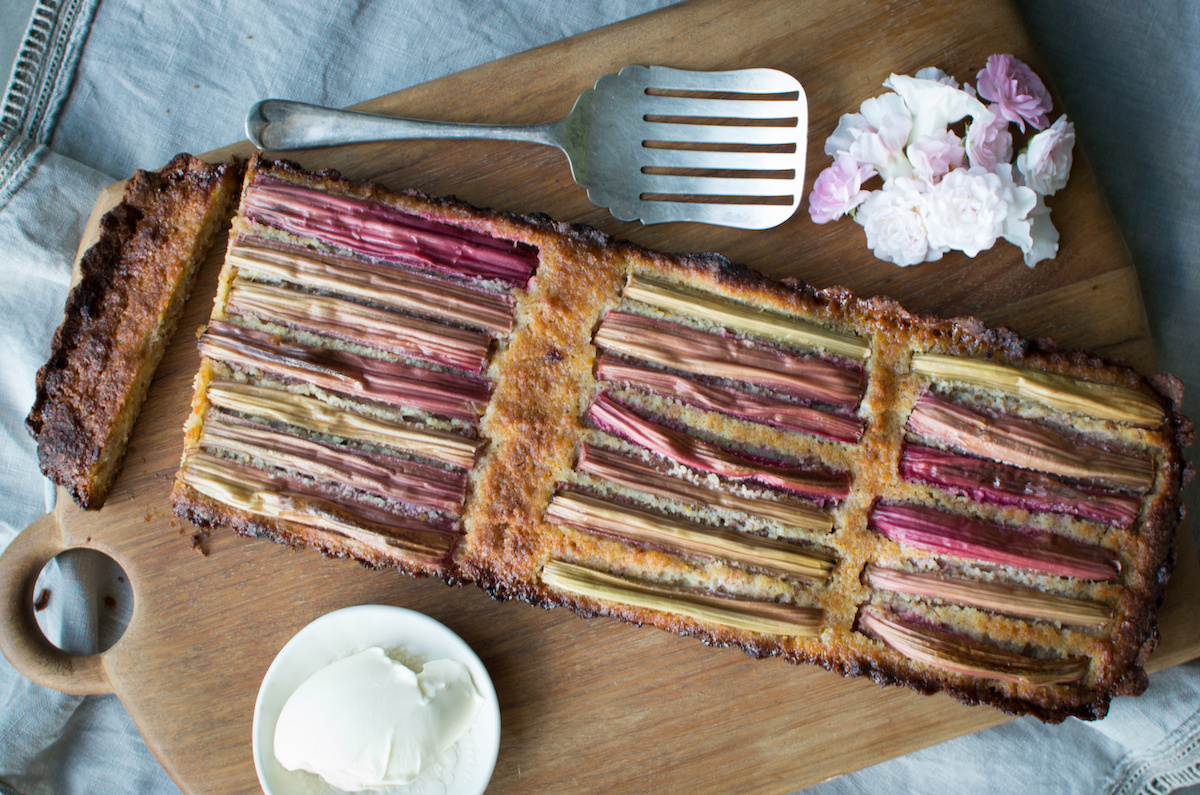 Rhubarb and Orange Frangipane Tart