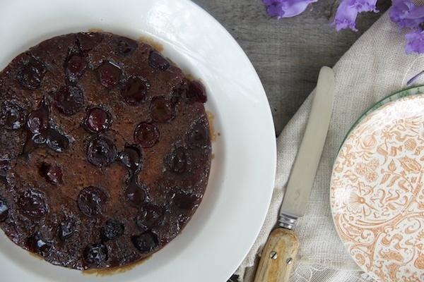 Zoe Salmen's delicious cherry upside down cake