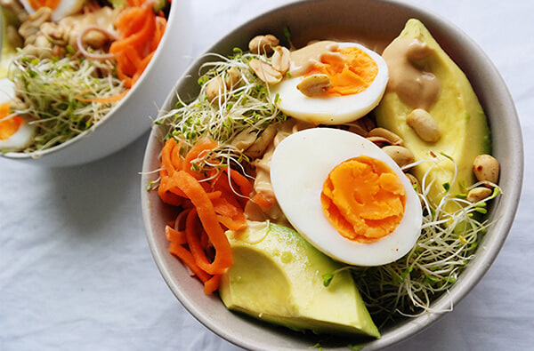 Try this peanut noodle salad for a healthy lunch