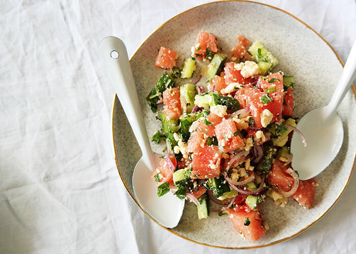Try this cooling watermelon salad recipe