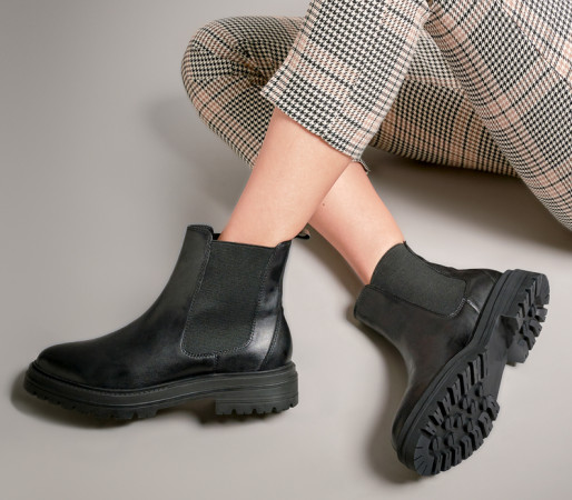 Norton leather chelsea ankle boot