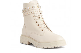 Nasco leather combat ankle boot