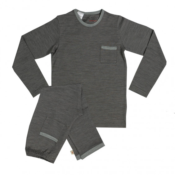 Merino Pyjamas - Big Kids - Flint
