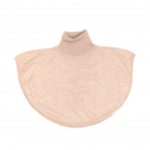 Merino Roll Neck Poncho - Misty Rose