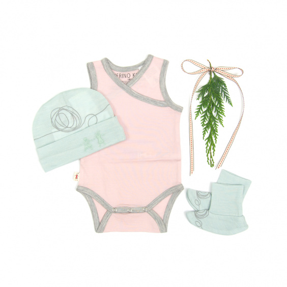SINGLET BODYSUIT with FREE BEANIE & BOOTIE (More colours)